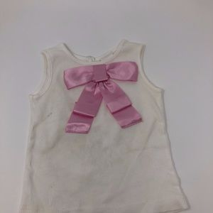 Gymboree Cotton Shirt with Pink Bow